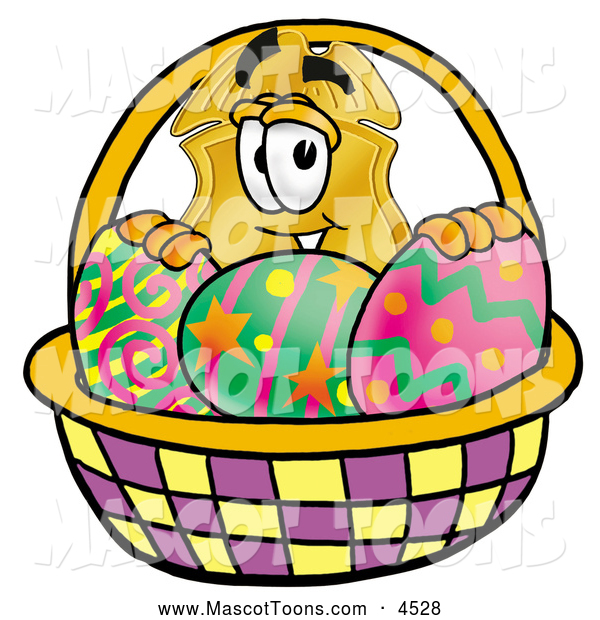 Cartoon Characters Easter Baskets : Mascot cartoon of a police badge character