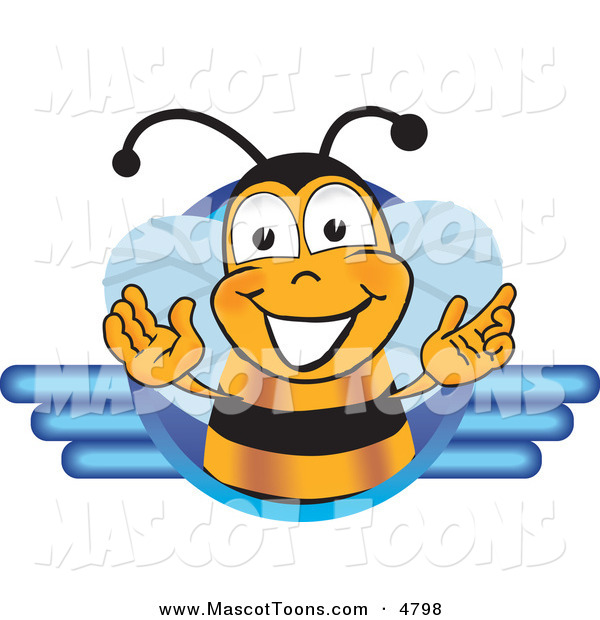 Mascot Vector Cartoon of a Friendly Black and Yellow Bee Mascot Cartoon Character LogoFriendly Black and Yellow Bee Mascot Cartoon Character Logo