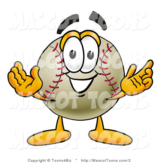 Vector Cartoon of a Baseball Mascot