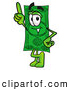 Cartoon of a Dollar Bill Mascot Pointing Upwards by Toons4Biz