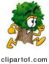 Cartoon of a Fast Tree Mascot Running by Toons4Biz
