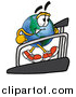 Cartoon of a Happy Earth Globe Mascot Walking on a Treadmill by Toons4Biz