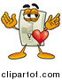 Cartoon of a Light Switch Mascot with His Heart Beating out of His Chest by Toons4Biz