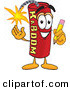 Mascot Vector Cartoon of a Cheerful Dynamite Mascot Cartoon Character Holding a Pencil by Toons4Biz