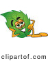 Mascot Vector Cartoon of a Cute Leaf Mascot Cartoon Character Resting His Head on His Hand by Toons4Biz