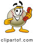 Mascot Vector Cartoon of a Friendly Baseball Mascot Cartoon Character Holding a Telephone by Toons4Biz