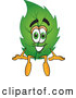Mascot Vector Cartoon of a Friendly Leaf Mascot Cartoon Character Sitting by Toons4Biz