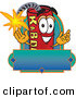 Mascot Vector Cartoon of a Ignited Dynamite Mascot Cartoon Character with a Blank Label by Toons4Biz