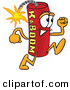 Mascot Vector Cartoon of a Red Dynamite Mascot Cartoon Character Running by Toons4Biz