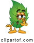 Mascot Vector Cartoon of a Sneaky Leaf Mascot Cartoon Character Whispering and Gossiping by Toons4Biz