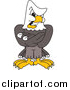Vector Cartoon of a Bald Eagle Mascot Being Stern by Toons4Biz